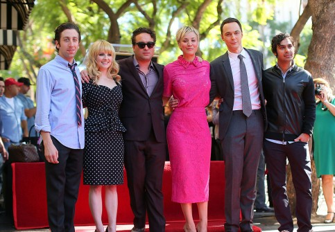 The Cast of 'The Big Bang Theory' On The Hollywood Walk Of Fame