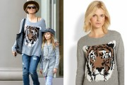 Heidi Klum Roars In BCBGMAXAZRIA Tiger Sweater: Where Can I Find