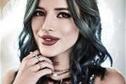 Nail It: Bella Thorne Knows How to Mix & Match Blue Hair with Green Eyeshadow
