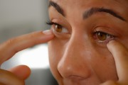 woman with dark circles